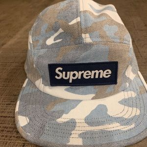 Supreme Washout Blue Camo Hat